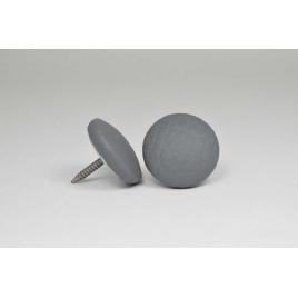 Bouton à clou recouvert de simili cuir gris