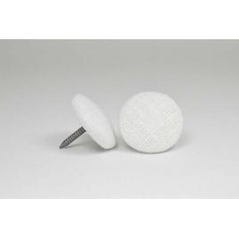 Bouton à clou recouvert de lin blanc