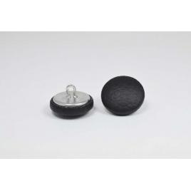 Bouton à anneau recouvert de simili cuir noir