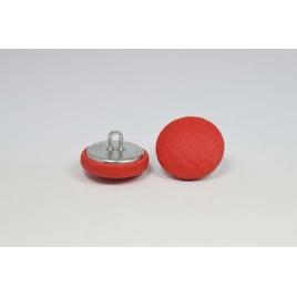 Bouton à anneau recouvert de simili cuir rouge