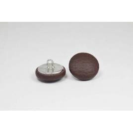 Bouton à anneau recouvert de simili cuir chocolat