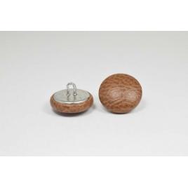 Bouton à anneau recouvert de simili cuir camel