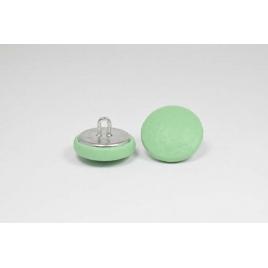 Bouton à anneau recouvert de simili cuir vert menthe
