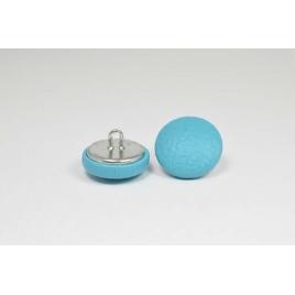 Bouton à anneau recouvert de simili cuir bleu turquoise