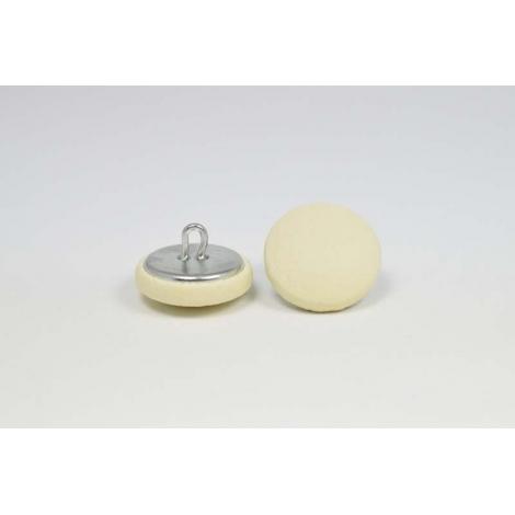Bouton à anneau recouvert de simili cuir beige