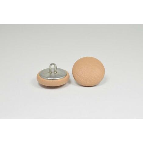 Bouton à anneau recouvert de simili cuir sable