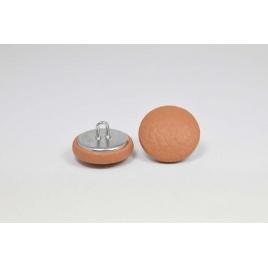 Bouton à anneau recouvert de simili cuir brun clair