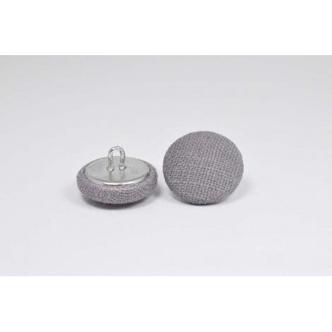 Bouton à anneau recouvert de lin gris