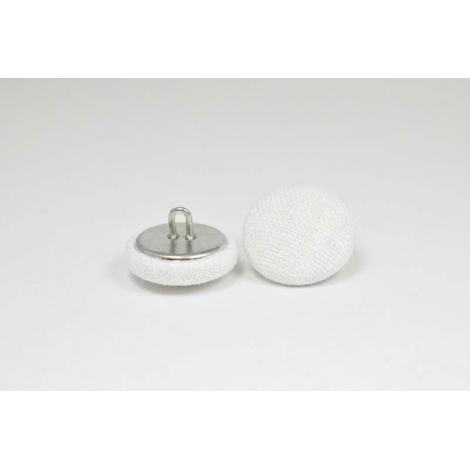 Bouton à anneau recouvert de lin blanc