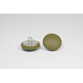 Bouton à anneau recouvert de simili cuir vert tilleul