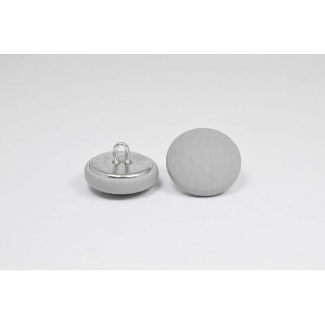 Bouton à anneau recouvert de simili cuir gris clair
