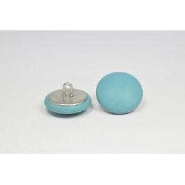 Bouton à anneau recouvert de cuir de veau bleu ciel