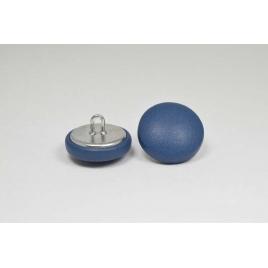 Bouton à anneau recouvert de cuir de veau bleu orage