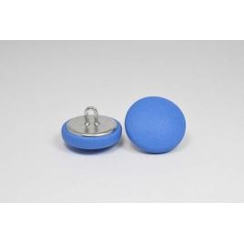 Bouton à anneau recouvert de cuir de veau bleu pastel