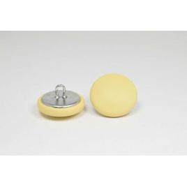 Bouton à anneau recouvert de cuir de veau jaune pastel