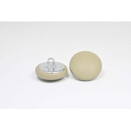 Bouton à anneau recouvert de cuir de veau mastic