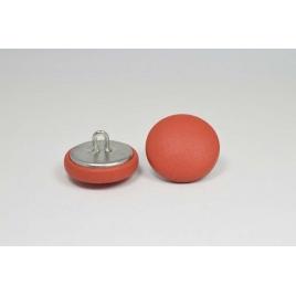 Bouton à anneau recouvert de cuir de veau orange sanguine
