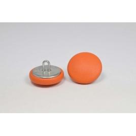 Bouton à anneau recouvert de cuir de veau orange