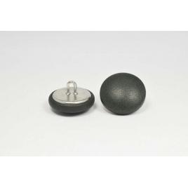 Bouton à anneau recouvert de cuir de veau vert foncé