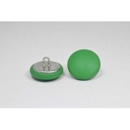Bouton à anneau recouvert de cuir de veau vert menthe