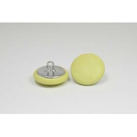 Bouton à anneau recouvert de cuir de vachette grainé vert anis