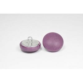 Bouton à anneau recouvert de cuir de vachette lisse prune