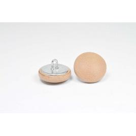 Bouton à anneau recouvert de cuir de vachette marron clair
