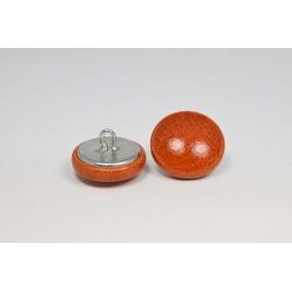 Bouton à anneau recouvert de cuir de vachette lisse rouille