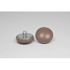 Bouton à anneau recouvert de cuir de veau bois