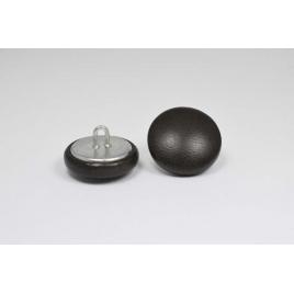 Bouton à anneau recouvert de cuir de veau bronze