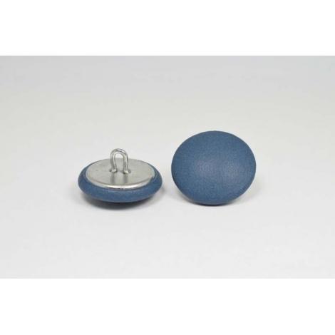 Bouton à anneau recouvert de cuir de veau lisse bleu
