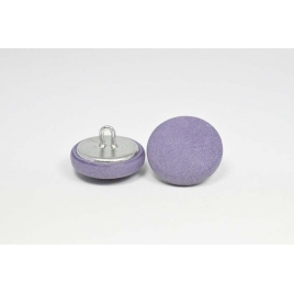 Bouton à anneau recouvert de cuir de veau souple violet doux
