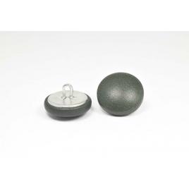 Bouton à anneau recouvert de cuir de veau vert forêt