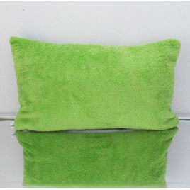Coussin rectangle dinosaures dos vert