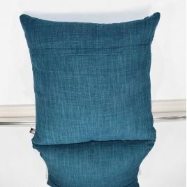 Coussin carré jacquard bleu version 2
