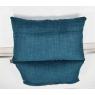 Coussin rectangle jacquard bleu version 2