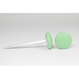 Bouton à languettes recouvert de simili cuir vert menthe
