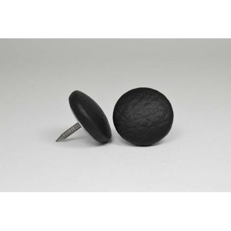 Bouton à clou recouvert de simili cuir noir