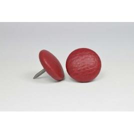 Bouton à clou recouvert de simili cuir bordeaux